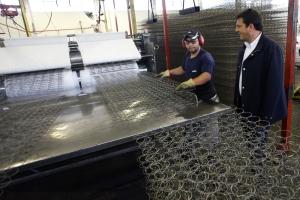 El Intendente de Tigre, Sergio Massa, recorrió las instalaciones de la empresa Piero, ubicada en la ruta Panamericana Km. 31,5, El Talar.