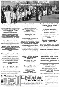 Programa de festejos