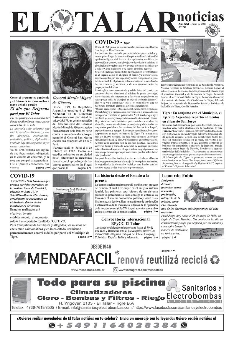 EL TALAR NOTICIAS 249 MAYO 2020.pmd