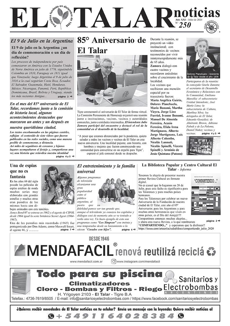EL TALAR NOTICIAS 250 JULIO 2020.pmd
